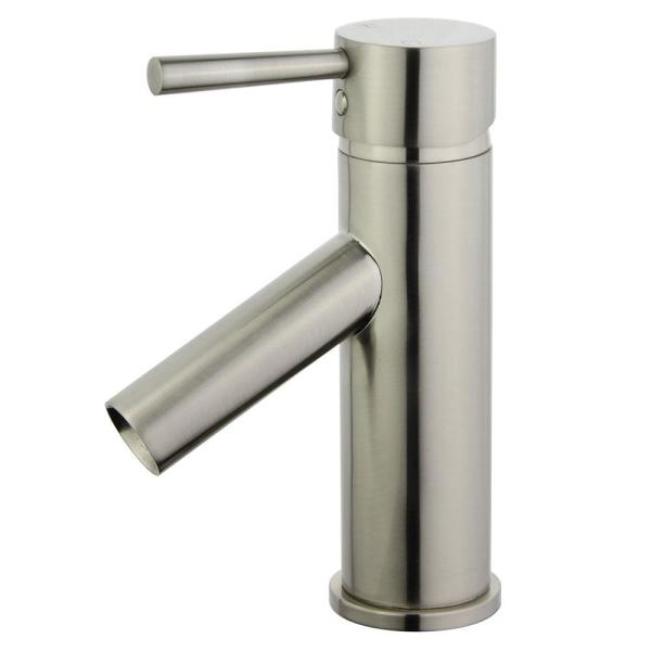 Malaga Single Hole Single-Handle Bathroom Faucet with Overflow Drain in Brushed Nickel