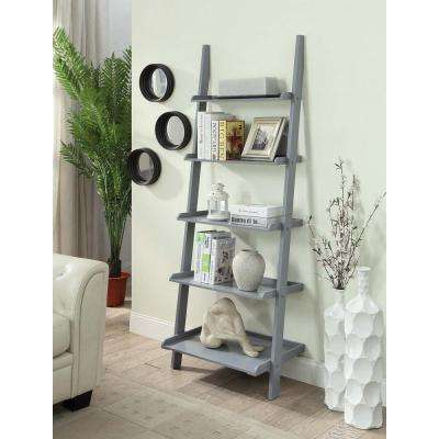 American Heritage Gray Ladder Bookcase