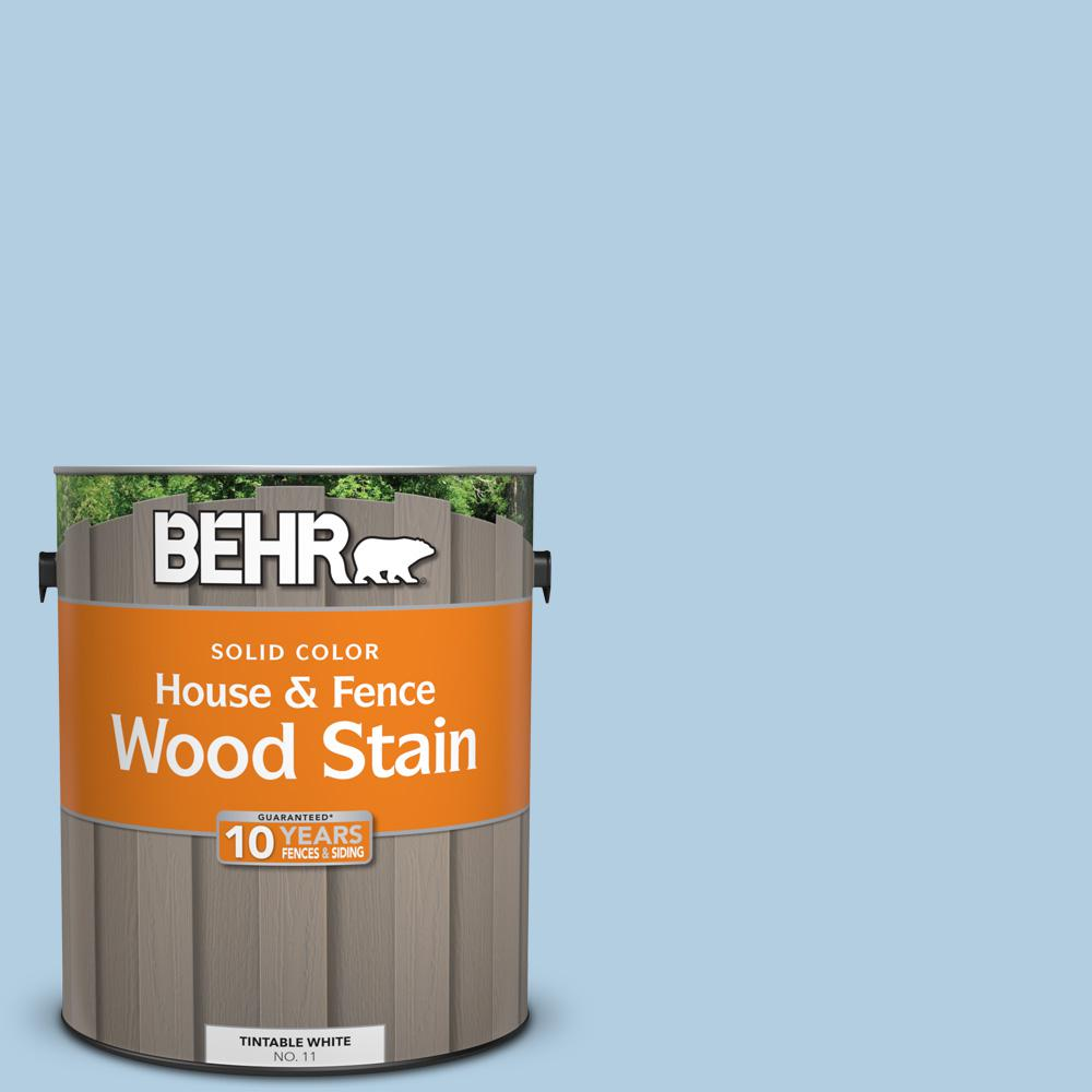 BEHR 1 gal.  PPU14-14 Crystal Waters Solid House and Fence Exterior ... 81c7951d962