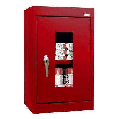 26 in. H x 16 in. W x 12 in. D Clear View Wall Cabinet in Red