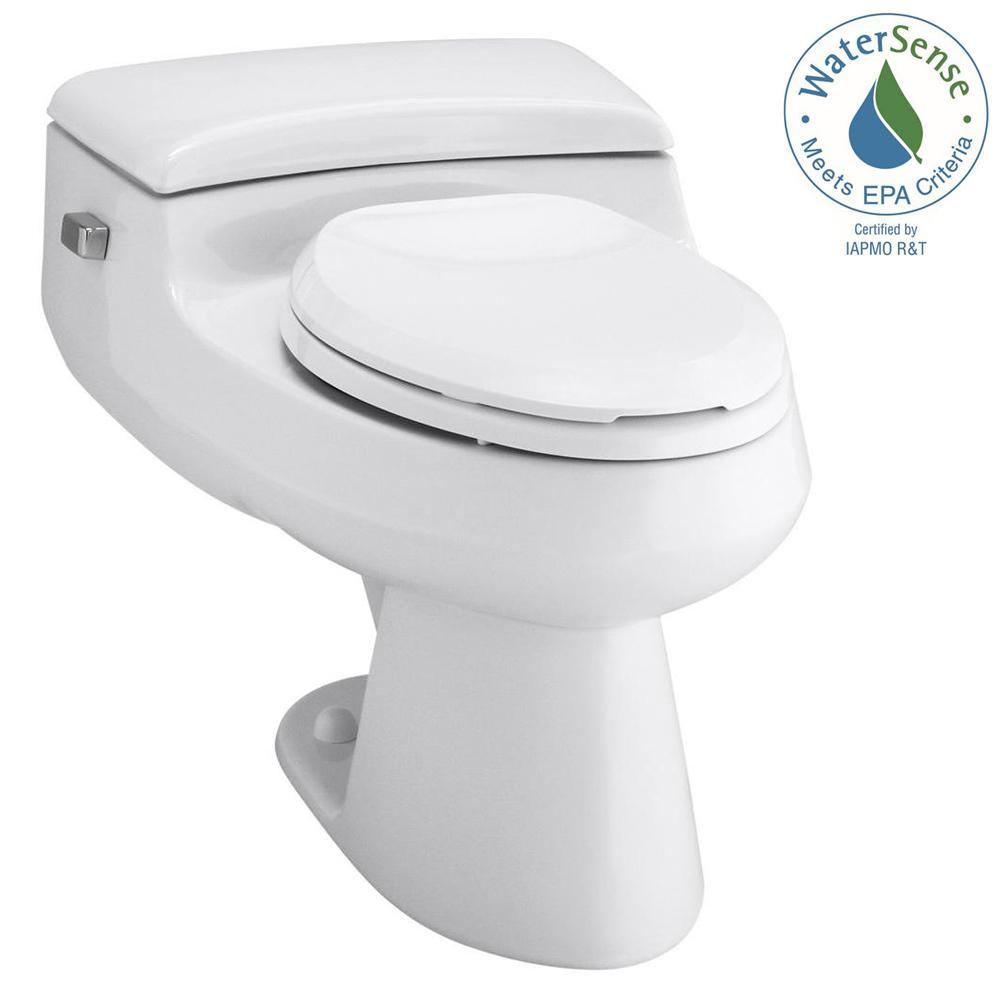 KOHLER San Raphael Comfort Height 1-piece 1 GPF Single Flush Elongated Toilet in White