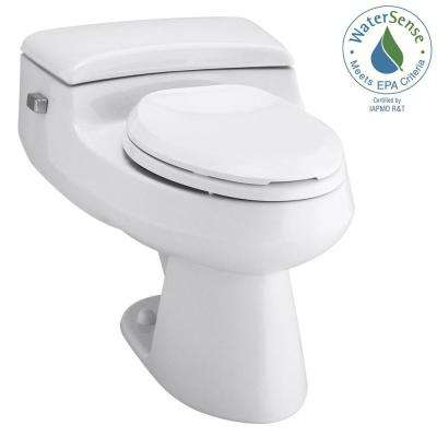San Raphael Comfort Height 1-piece 1 GPF Single Flush Elongated Toilet in White, Seat Included