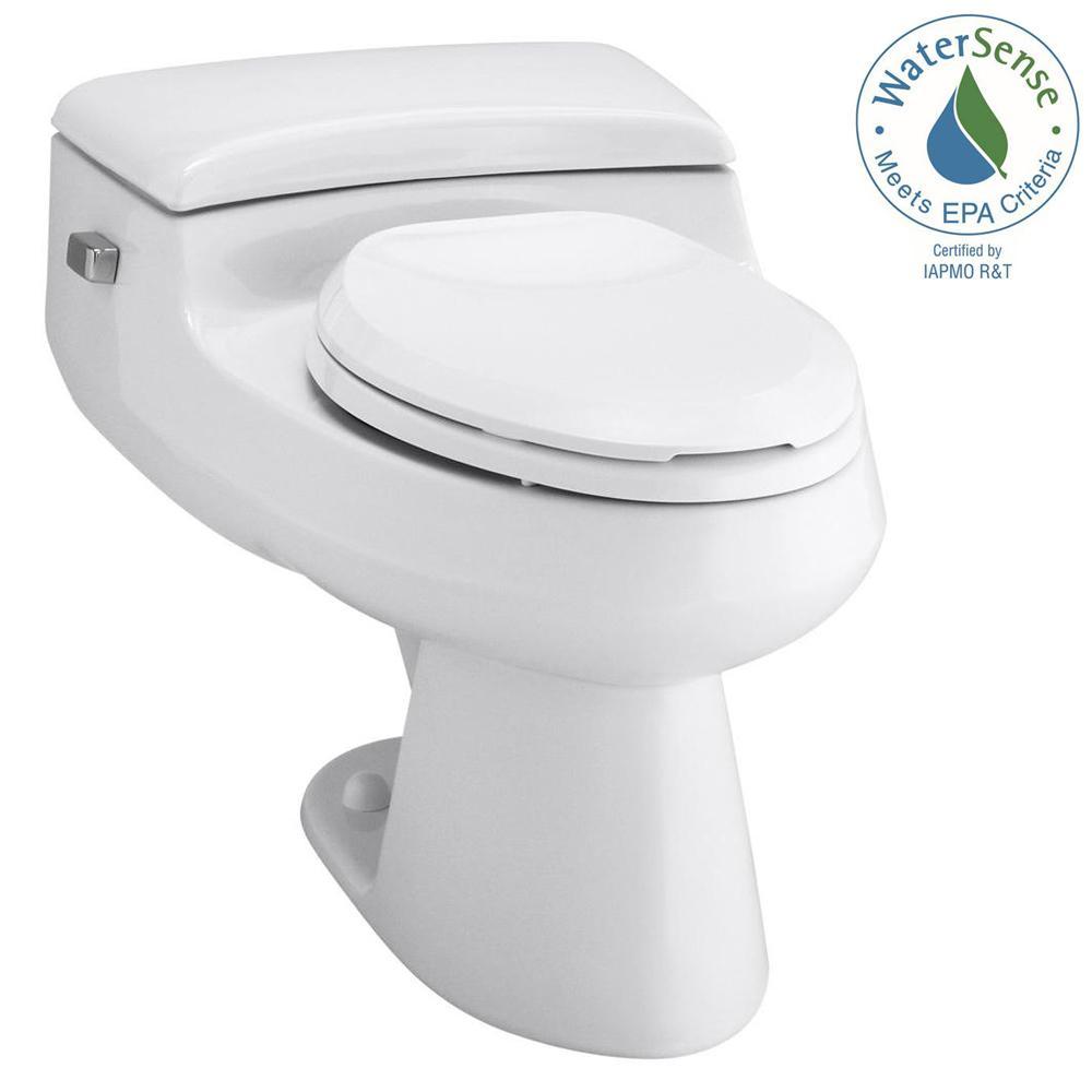 San Raphael Comfort Height 1-piece 1 GPF Single Flush Elongated Toilet in White