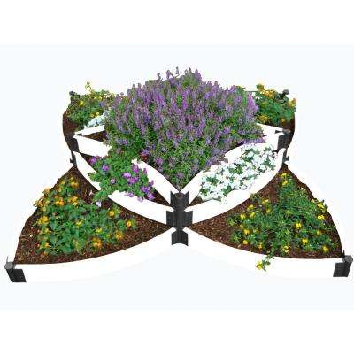 96 in. x 96 in. x 24in White Composite Versailles Sunburst Raised Garden Bed Kit