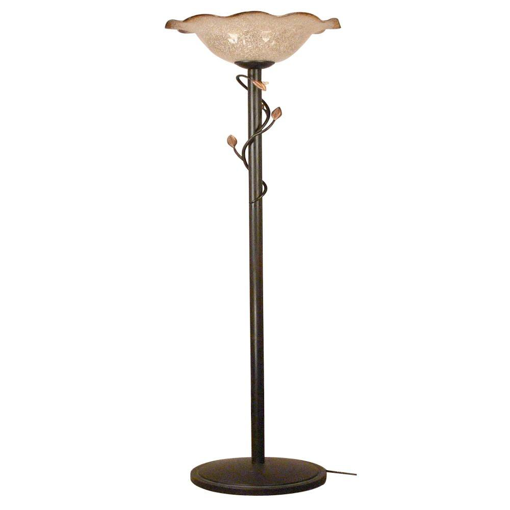 Bel Air Lighting 71.50 in. Rubbed Oil Bronze Torchiere Lamp