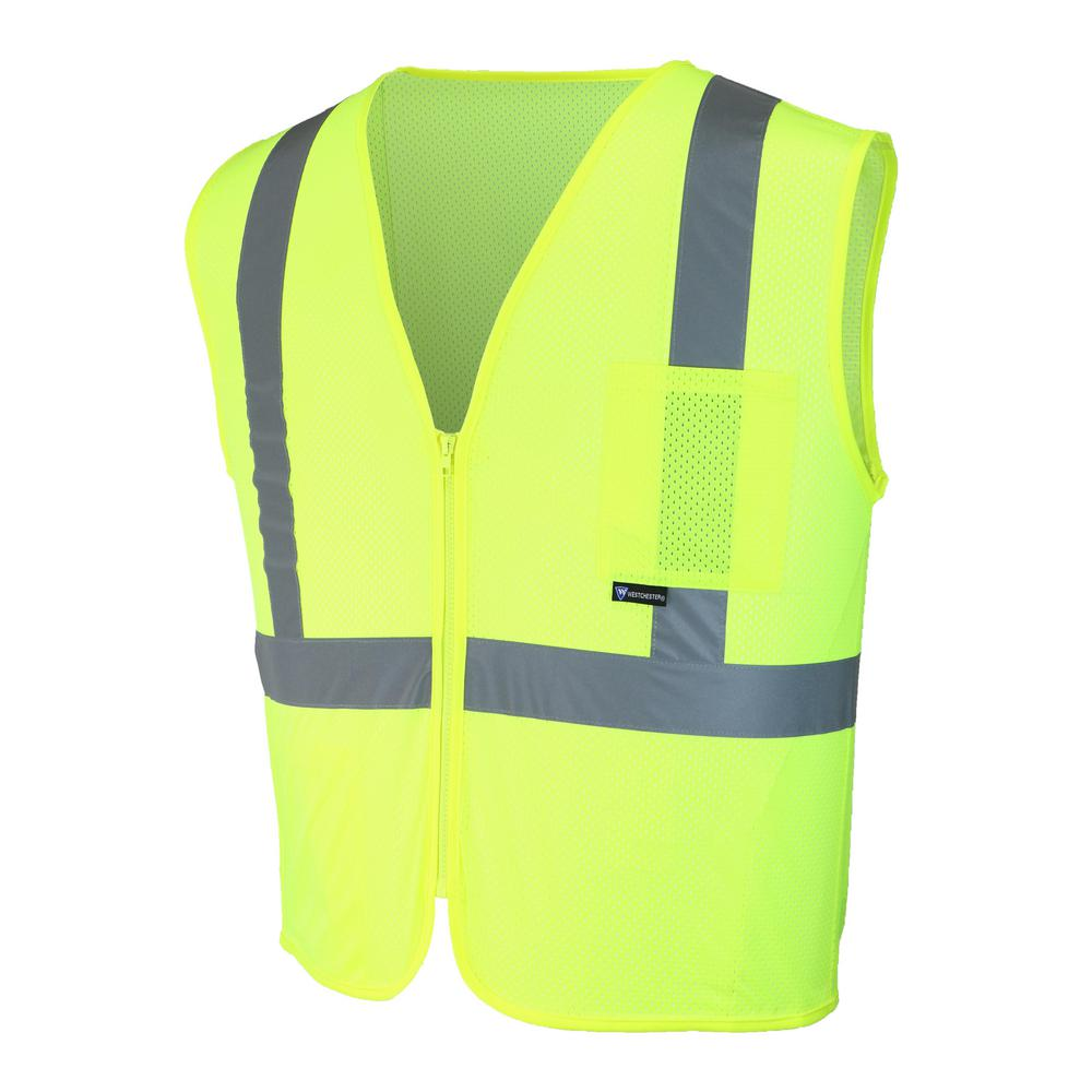HDX HDX High-Visibility Yellow Reflective Safety Vest, Adult Unisex