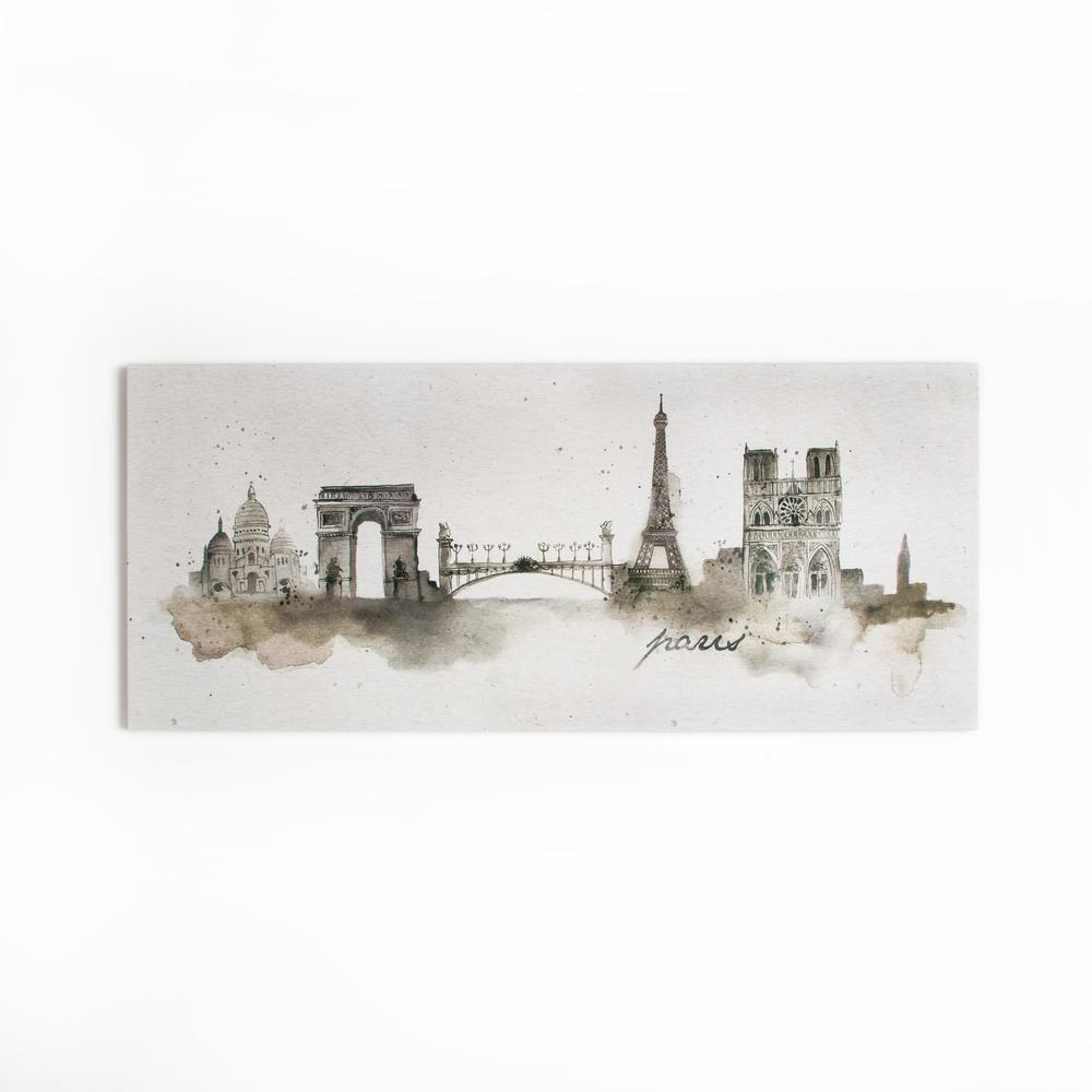 "47 in. x 20 in. ""Paris Watercolor"" by Graham and Brown"