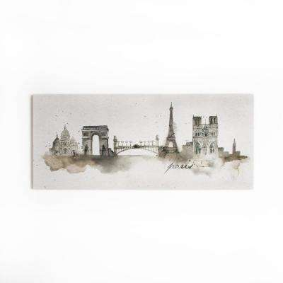 "47 in. x 20 in. ""Paris Watercolor"" by Graham and Brown Printed Canvas Wall Art"