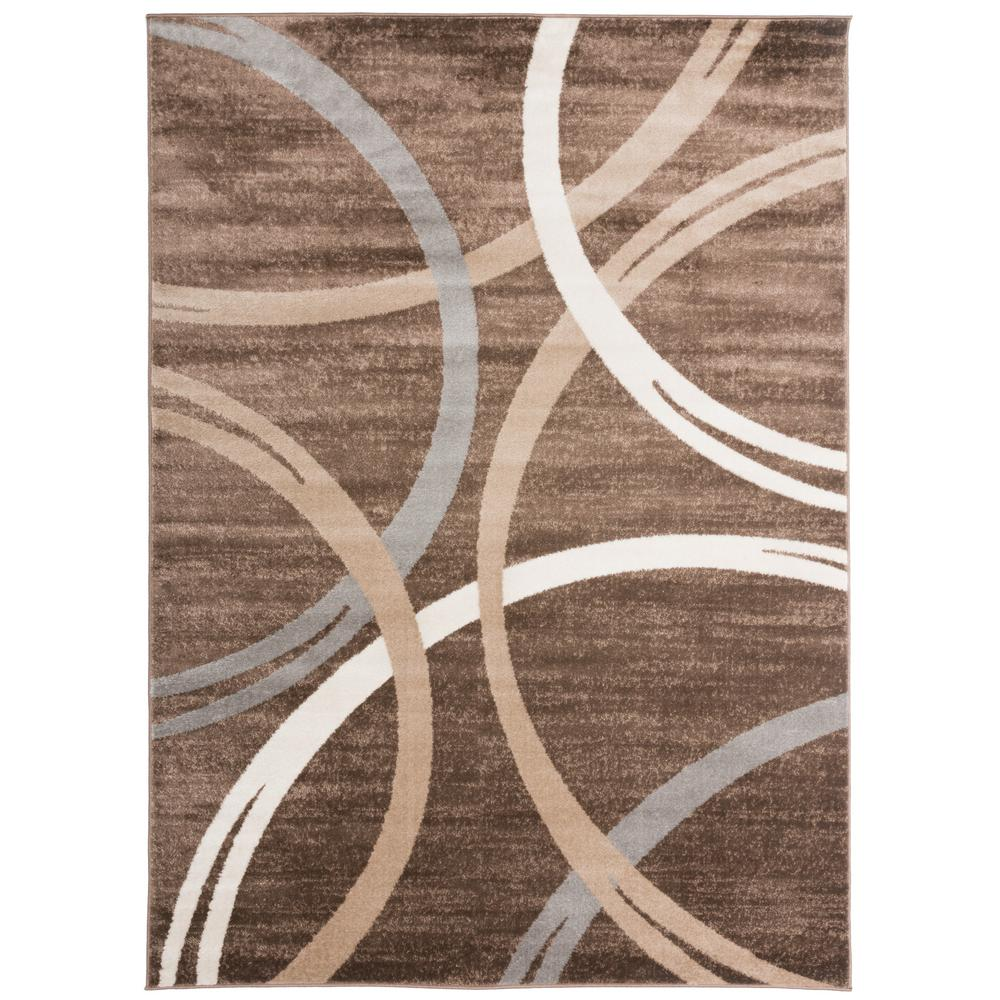 World Rug Gallery Modern Abstract Circles Design Area Rug