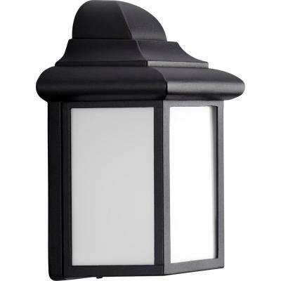 Milford Collection 1-Light 8.75 in. Outdoor Black Wall Lantern Sconce