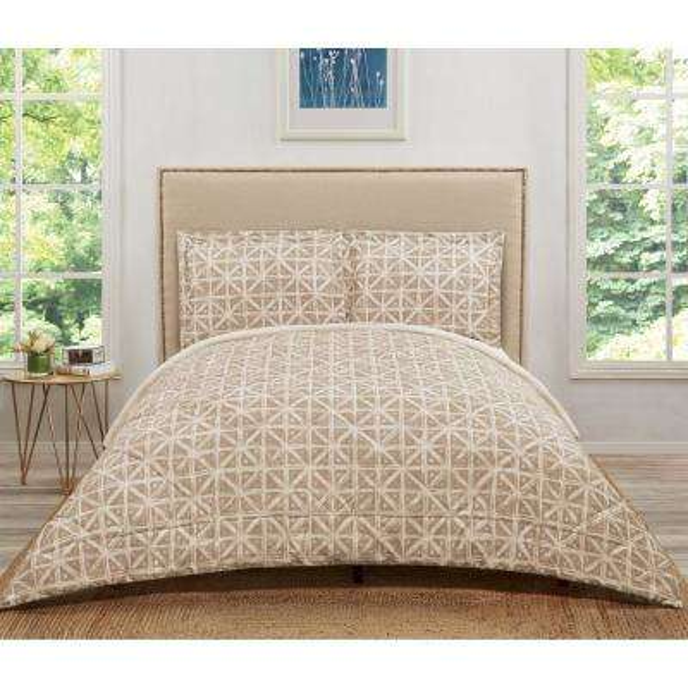 Celine Golden Ivory Twin Extra Long Comforter Set