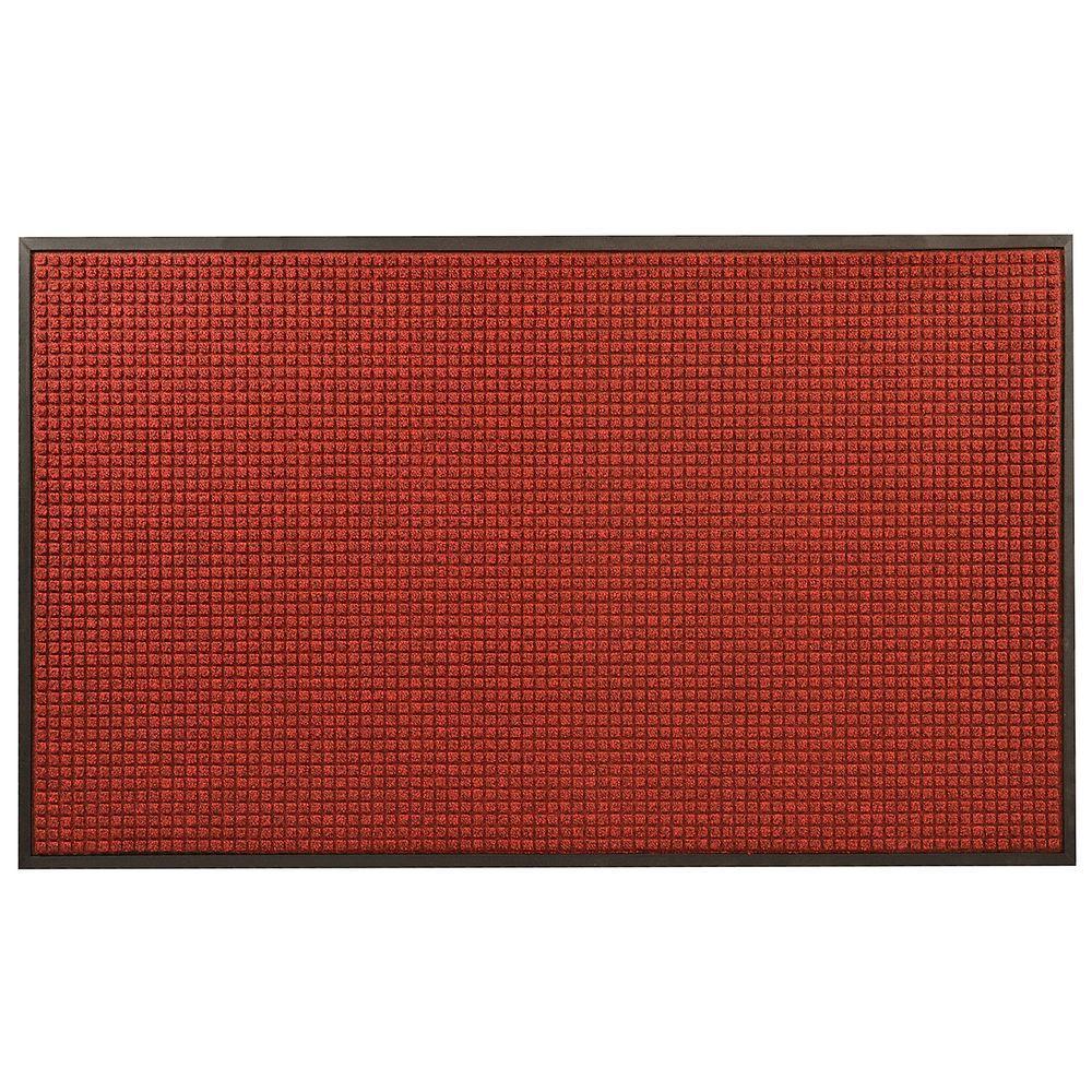 Hometrax Designs Guzzler Red Black 36 In X 48 In Rubber