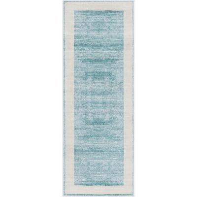 Uptown Collection by Jill Zarin Yorkville Turquoise 2' 2 x 6' 0 Runner Rug