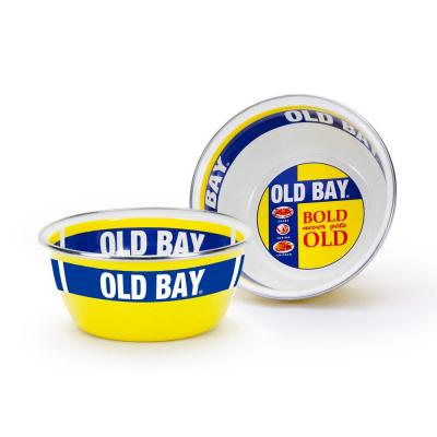 Old Bay 3-cup Enameled Steel Round Soup Bowl