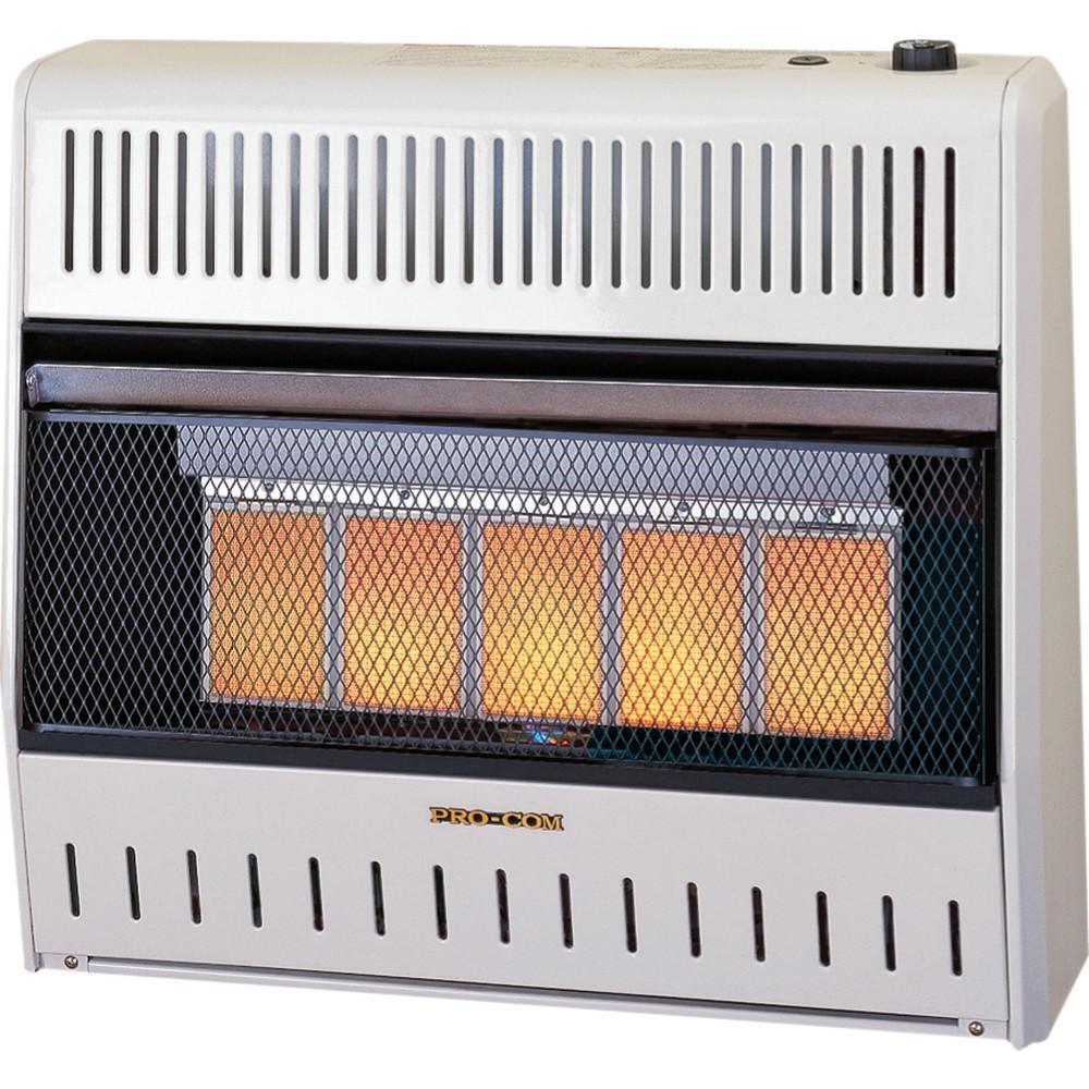 Procom 25 000 Btu Ventless 5 Plaque Lp Gas Wall Heater