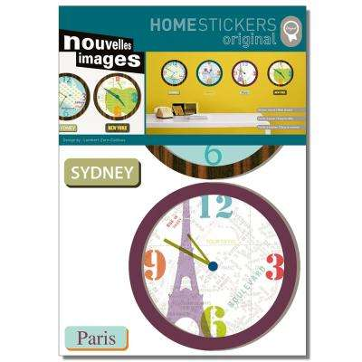 Multicolor City Clocks Home Sticker