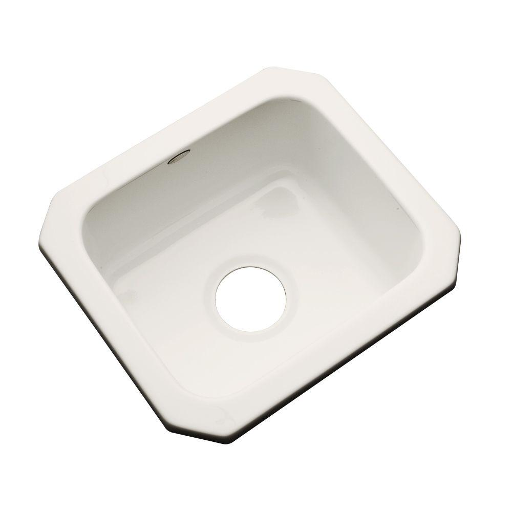 Manchester Undermount Acrylic 16 in. 0-Hole Single Bowl Entertainment Sink in