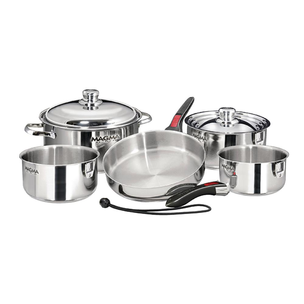 Professional Series 10-Piece Induction Compatible Nesting Cookware Set in