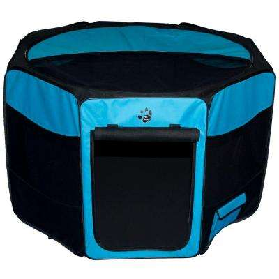 29 in. L x 29 in. W x 17 in. H Octagon Pet Pen with Removable Top