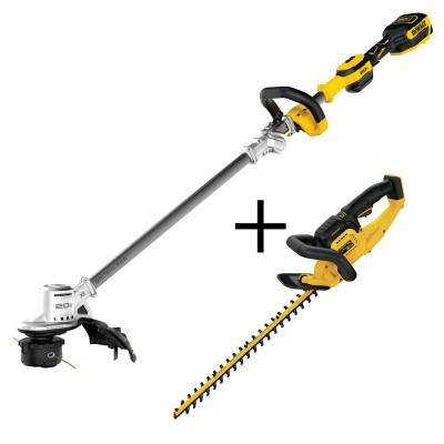20-Volt MAX Li-Ion Brushless Cordless String Trimmer with Bonus 22 in. 20-Volt MAX Li-Ion Hedge Trimmer (Tool-Only)