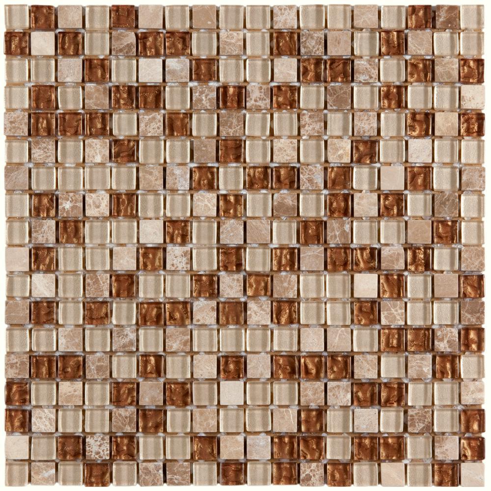 Tessera Mini Caramel 11-3/4 in. x 11-3/4 in. x 8 mm