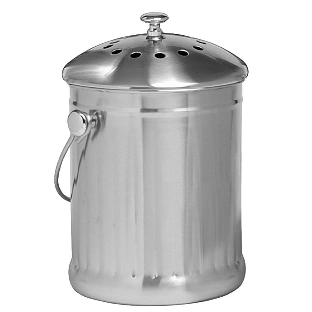 Norpro 1 gal. Stainless Steel Compost Keeper