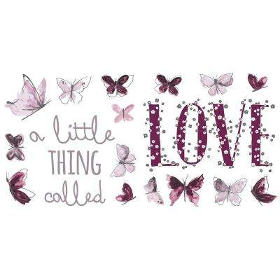 24 in. x 11.8 in. A Little Thing Called Love Wall Sticker