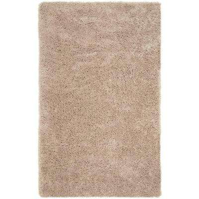 Classic Shag Ultra Taupe 6 ft. x 9 ft. Area Rug