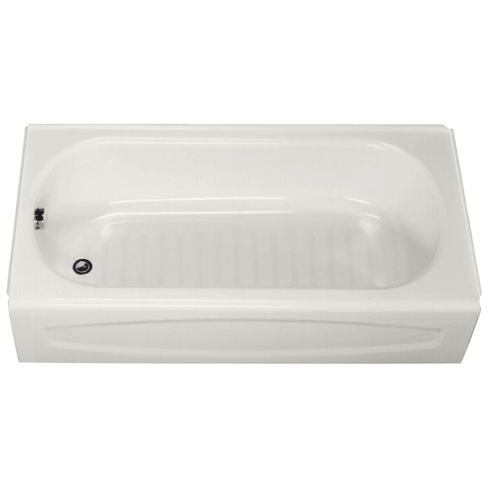 Swan 5 ft. Left Drain Bathtub in White-BT-3060L-010 - The Home Depot