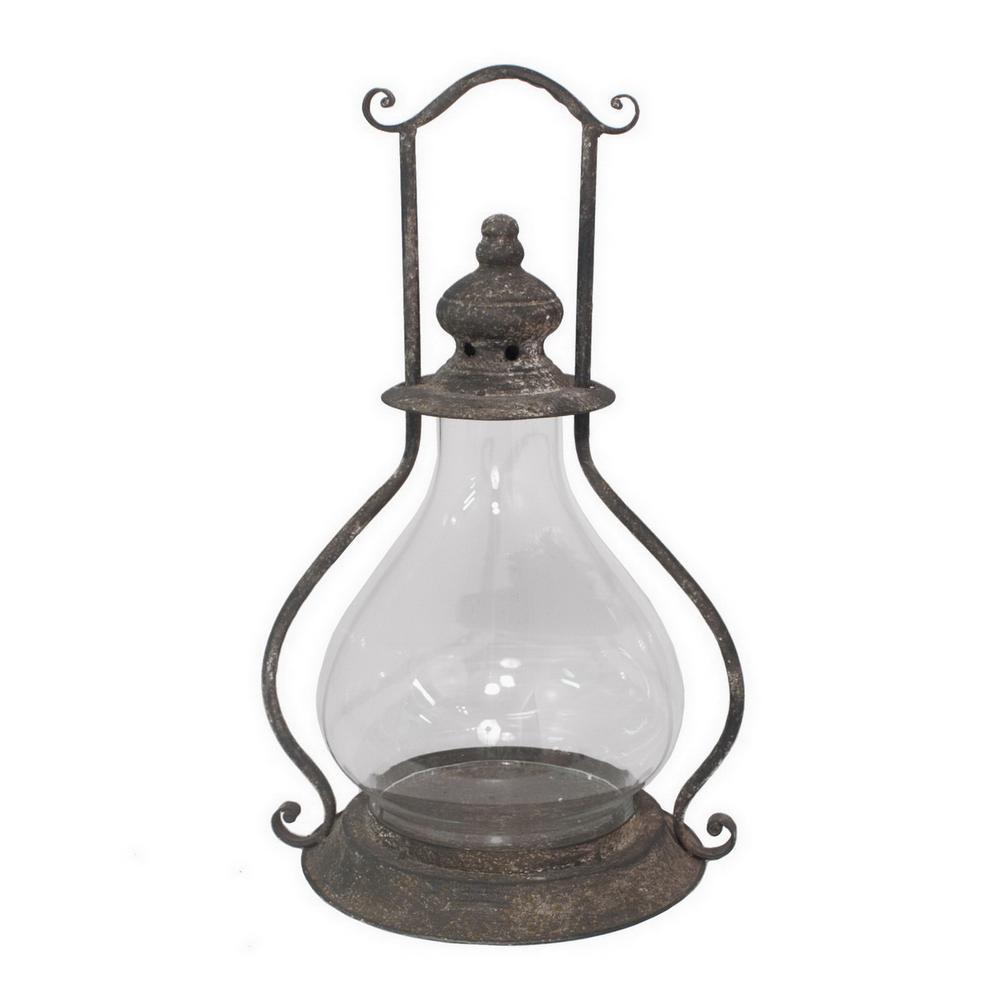 17 in. Metal Lantern