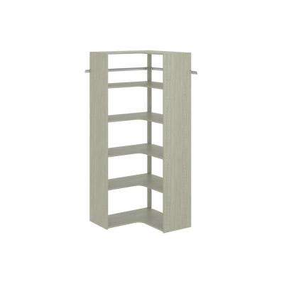 30 in. D x 30 in. W x 72 in. H Rustic Grey Wood Corner Closet Kit