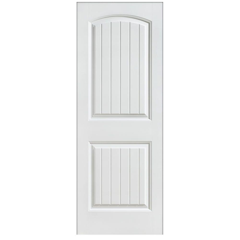 Masonite 36 in. x 80 in. Cheyenne 2-Panel Left Hand Inswing Primed ...