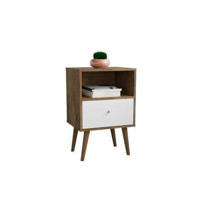 Liberty 1.0 Rustic Brown and White Nightstand
