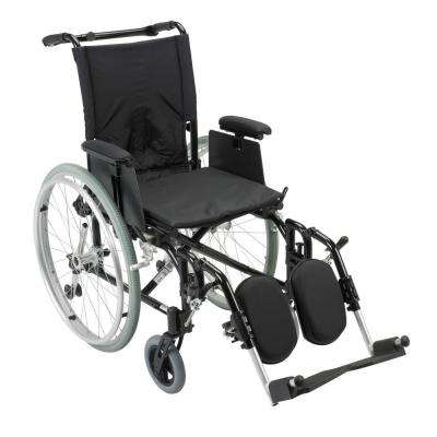 Cougar Ultra Lightweight Rehab Wheelchair with Detachable Adjustable Desk Arms and Elevating Legrest