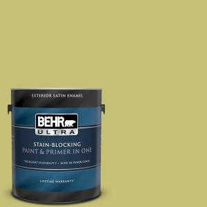 1 gal. #PPU9-07 Fresh Sprout Satin Enamel Exterior Paint and Primer in One