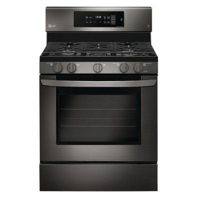 LG Electronics 5.4 cu. ft. Gas Range with Self-Cleaning in Black Stainless Steel