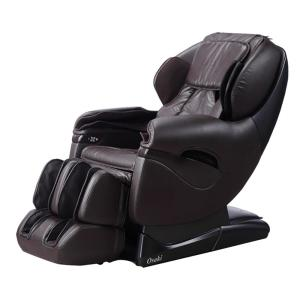 TITAN Pro Series Brown Faux Leather Reclining Massage Chair