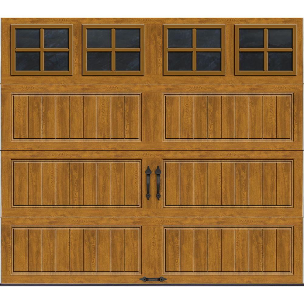 Clopay Gallery Collection 8 ft. x 7 ft. 18.4 R-Value Intellicore Insulated Ultra-Grain Medium Garage Door with SQ22 Window