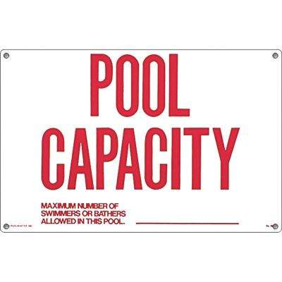 Residential or Commercial Swimming Pool Signs, Pool Capacity