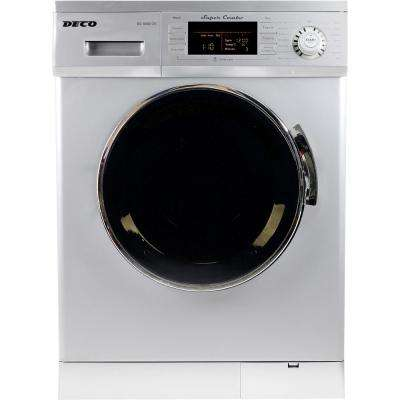 All-in-one 1200 RPM Compact Washer and Electric Ventless/Vented Dryer with Sensor Dry Feature in Silver