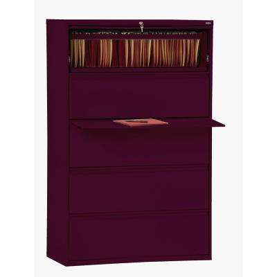 800 Series Burgundy File Cabinet