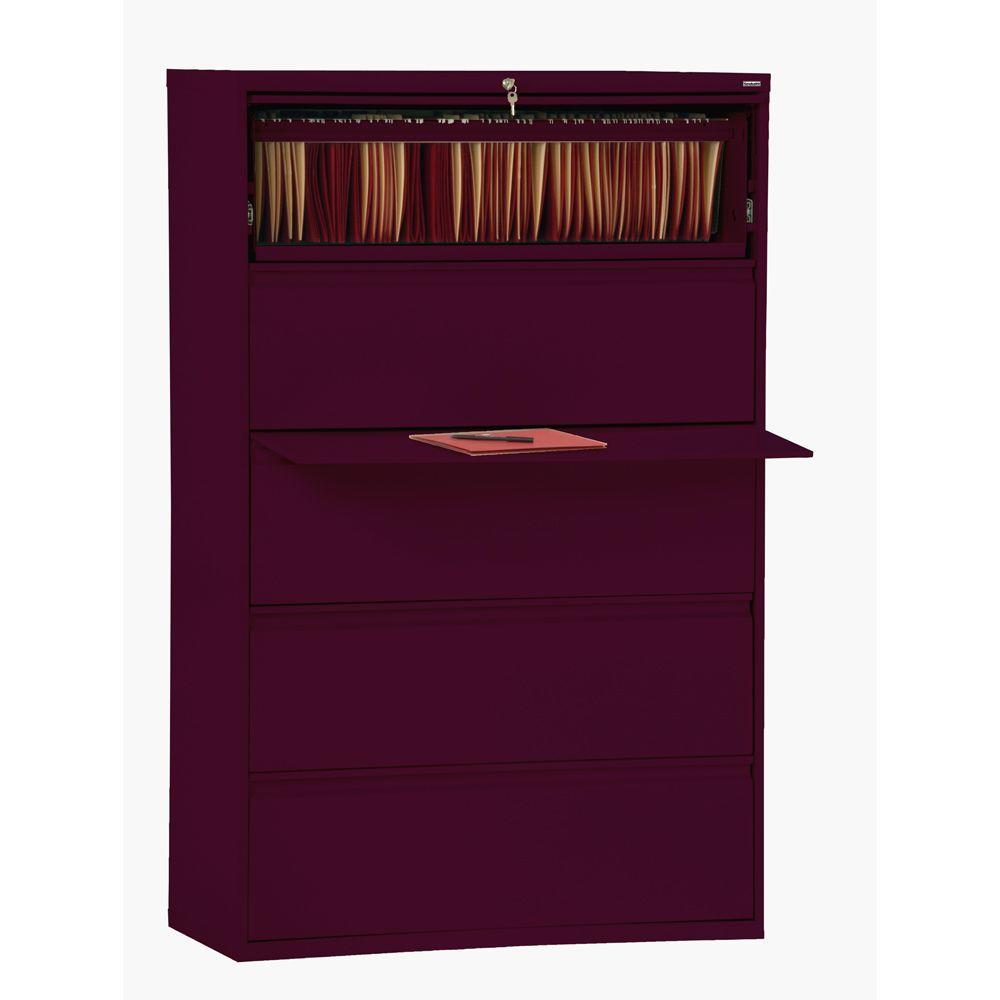 Sandusky 800 Series Burgundy File Cabinet