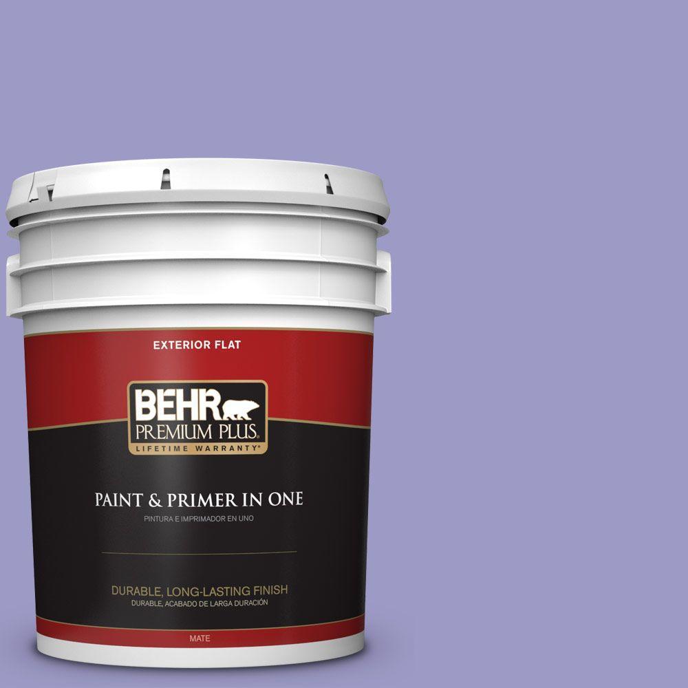 BEHR Premium Plus 5-gal. #630B-5 Majestic Violet Flat Exterior Paint