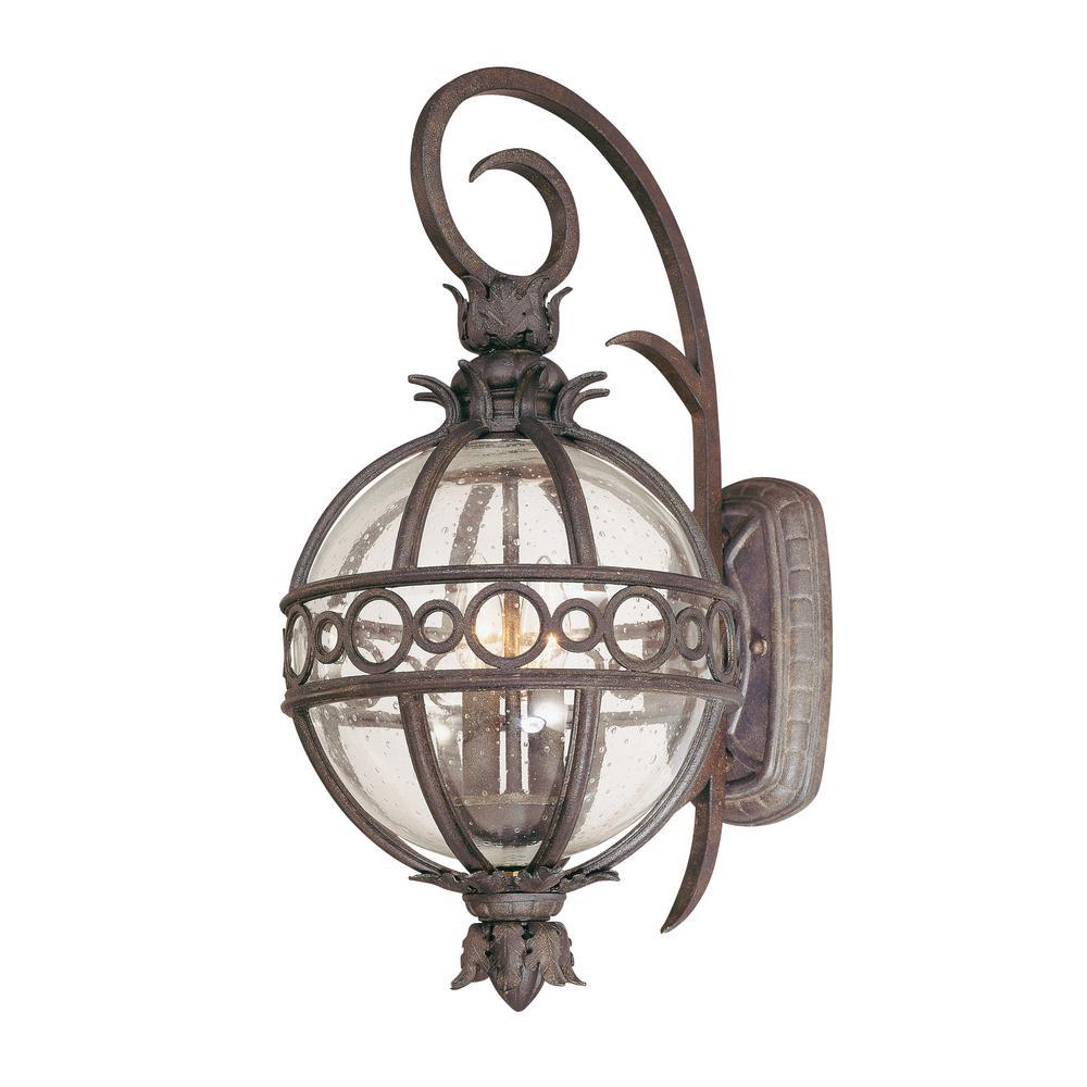 Campanile 2-Light Campanile Bronze Outdoor Wall Mount Lantern