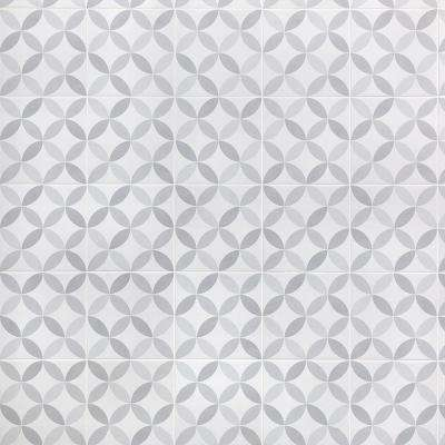 Cavanaugh Deco Grey 8 in. x 8 in. x 14mm Matte Porcelain Floor and wall Tile (9 pieces / 3.87 sq. ft. / box)