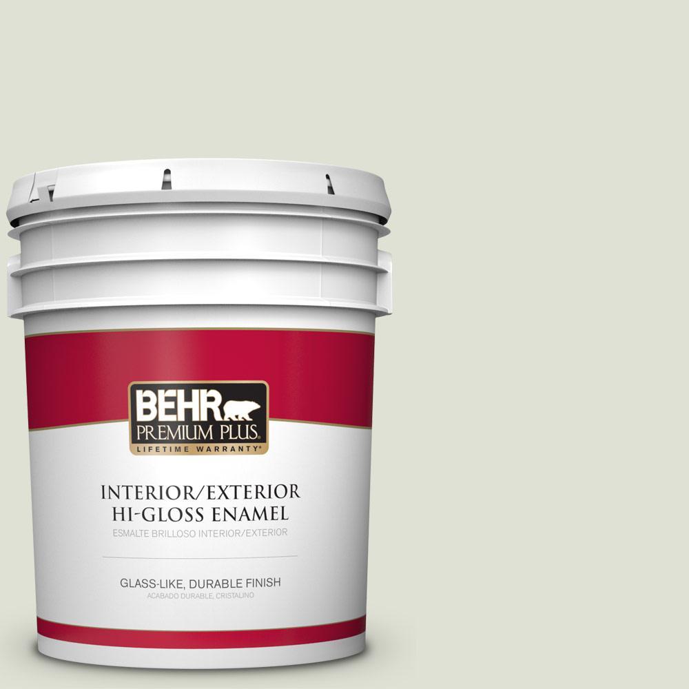 5 gal. #PPU10-12 Whitened Sage Hi-Gloss Enamel Interior/Exterior Paint