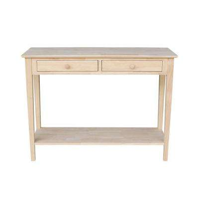 Spencer Unfinished Storage Console Table