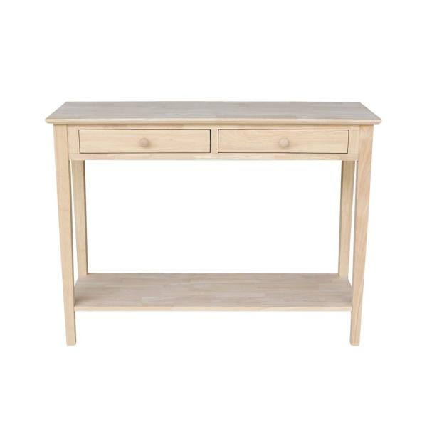 International Concepts Spencer Unfinished Storage Console