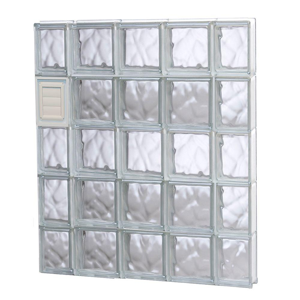 Clearly secure in x in x in wave for Glass block windows prices
