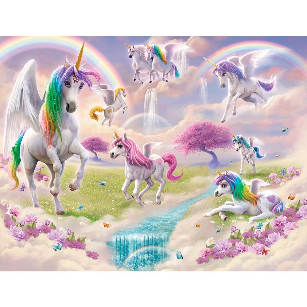 Walltastic Multi Color Magical Unicorn Wall Mural Wt46245